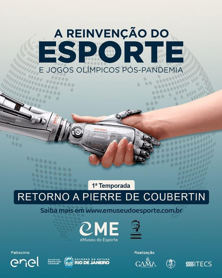 """Primeira temporada da exposição internacional """"Esporte e Jogos Olímpicos Pós-Pandemia: Lições de Pierre de Coubertin""""."""
